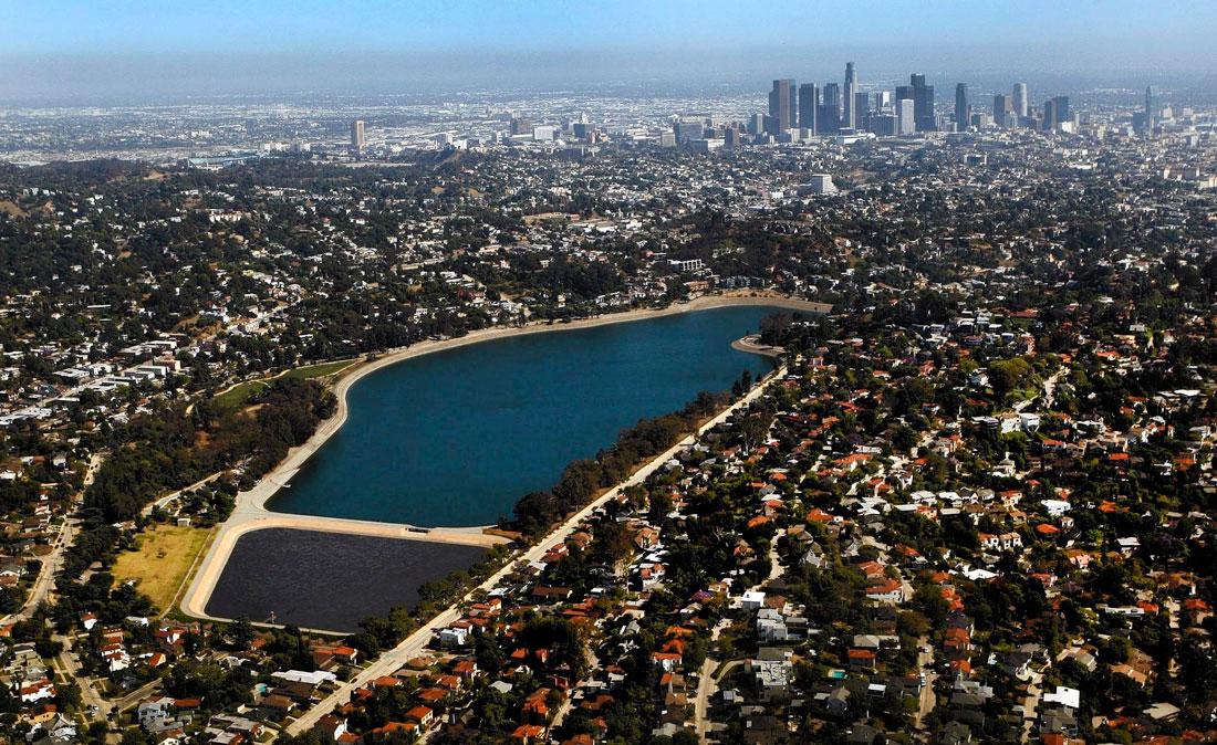 Ivanhoe e Silver Lake Reservoir, reservatórios de água em Los Angeles