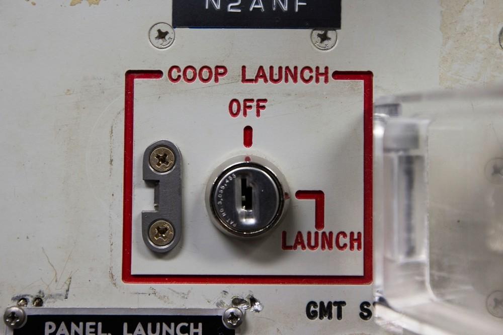 Uma das duas entradas de chave da Instalação de Controle de Lançamento Delta 01.
