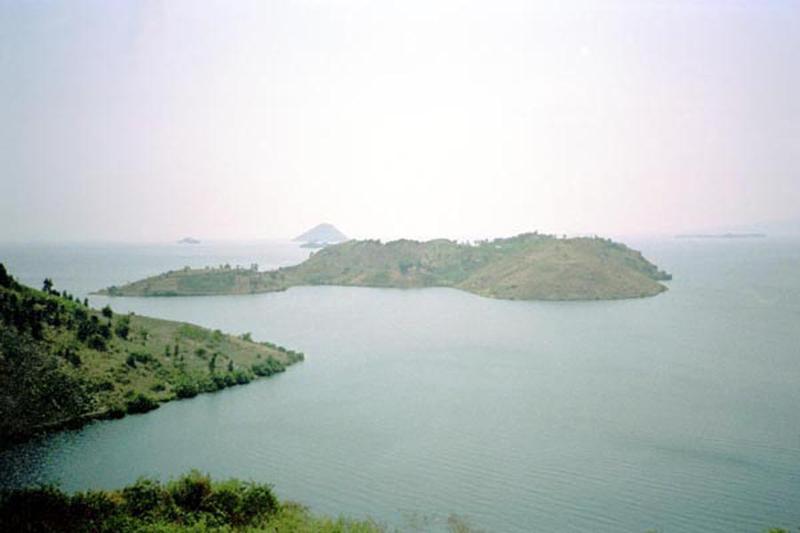 Lago Kivu em Ruanda